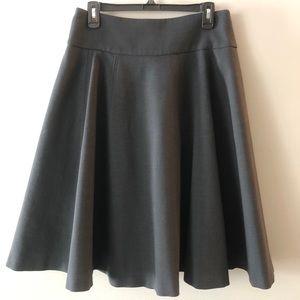 Kenneth Cole Black Wool Skirt, A-line, Sz 8, EUC